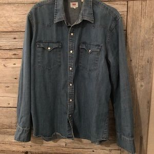 Levi's Denim Button Down Shirt Size XL